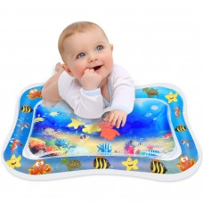 Keten Tummy Time Water Mat,  Inflatable Leakproof PVC Water Filled Baby Playmat for Children and Infant, Fun Activity Play Center Your Baby's Stimulation Growth (26'' x 20'')