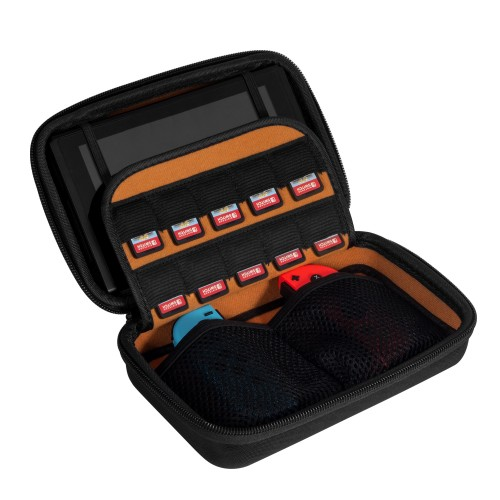 Keten Switch Case for Nintendo Switch Console and Joy-Con, Hard Travel Carry Case Protective Storage Bag with 10 Game Cartridge Holders