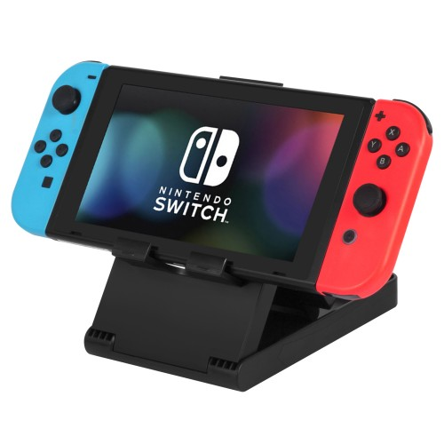 Adjustable Stand for Nintendo Switch, Keten Multi-Angle Play stand Smartphone Tablet Holder Dock Compatible with iPhone 7 6 Plus 5 5c, Accessories, iPad and Tablets (6-8 Inch) Foldable Adjustable Desk – Black
