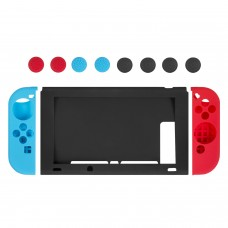Switch Joy Con Grip Guards, Keten Nintendo Switch Anti-slip Silicone Joy-Con Guards (Red/Blue) & Thumb Caps, Silicone Protective Cover for Console