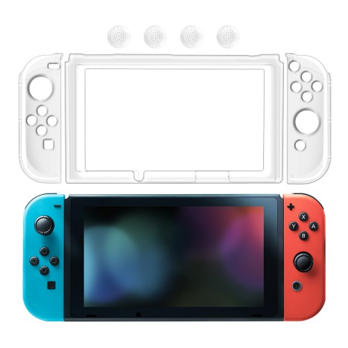 Keten Nintendo Switch Clear Case Full Coverage Crystal Hard Back Case Anti-Scratch Ultra-Thin Protective Cover for Nintendo Switch (Clear)