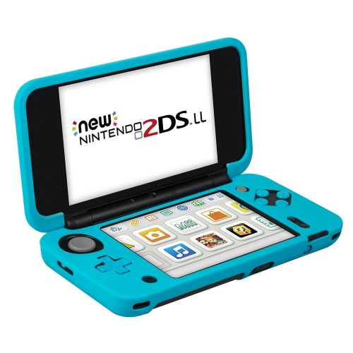 Nintendo New 2DS XL Silicone Case (Blue), Keten Nintendo Anti-slip Silicone Case Cover for Nintendo New 2DS XL (2017) Protective Case Lightweight Design for Comfort Game Feeling