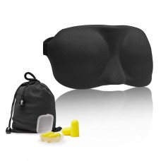 Keten 3D Eye Mask Sleep Blindfold for Sleeping Travel Contoured Design with 2 Sets of Earplugs and 1 Carry Pouch